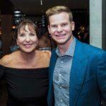 Steve Smith with mother Gillian Smith