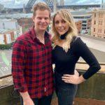 Steve Smith with wife Dani Willis