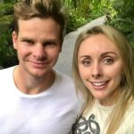 Steve Smith with wife Dani Willis image