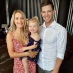 Tim Paine with wife and daughter