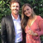Travis Head with wife Jess Davies image