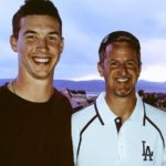 Walker Buehler with father Tony Buehler
