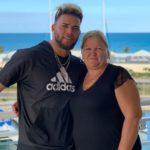 Yoan Moncada with mother Nicole Banks