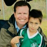 Aidan Gallagher with his father Rob Gallagher image