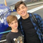 Asher Angel with brother Avi Angel