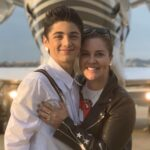 Asher Angel with mother Coco Angel