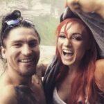 Becky Lynch with ex boyfriend Luke Sanders