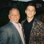 Brandon Flynn with father Michael Flynn
