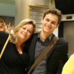 Brandon Flynn with mother Debbie Flynn