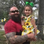 Bray Wyatt with daughter Cadyn Rotunda