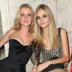Cara Delevingne with sister Chloe Delevingne