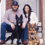 David Andrews with wife and pet dogs
