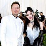 Elon Musk with girlfriend Grimes image