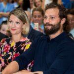 Jamie Dornan with sister Jessica Dornan