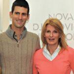 Novak Djokovic with mother Dijana Djokovic