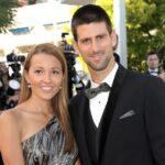 Novak Djokovic with wife Jelena Ristic