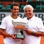 Rafael Nadal with father Sebastian Nadal