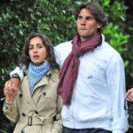 Rafael Nadal with wife Maria Francisca Perello