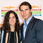 Rafael Nadal with wife Maria Francisca Perello image
