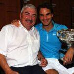 Roger Federer with father Robert Federer