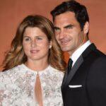Roger Federer with wife Miroslava Vavrinec image