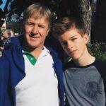 Alex Lange with father Marc Lange
