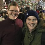 Evan Peters with brother Andrew Peters