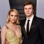 Evan Peters with ex-girlfriend Emma Roberts