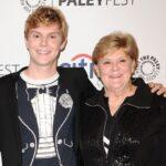 Evan Peters with mother Julie Peters