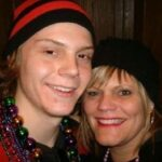 Evan Peters with sister Michelle Peters