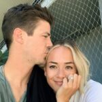 Grant Gustin with wife LA Thoma Gustin image