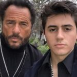 Isaak Presley with his father Lou Presley image