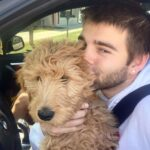 Jack Griffo with his pet dog
