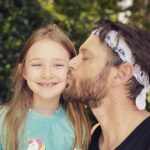 Jensen Ackles with daughter Justice Jay Ackles