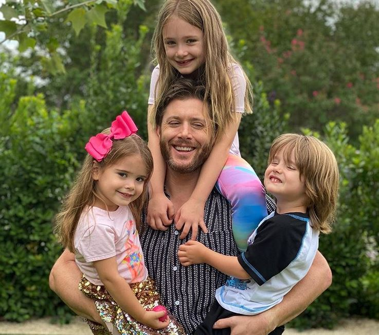 Jensen Ackles with his kids