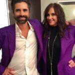 John Stamos with sister Alaina Stamos