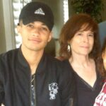 Jordan Fisher with mother Pat Fisher