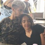 Jordan Fisher with sister Trinity Fisher