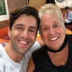 Josh Peck with his mother Barbara Peck