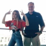 Lizzy Greene with her father