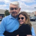Lucy Hale with her grandfather