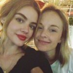 Lucy Hale with sister Maggie Clarke