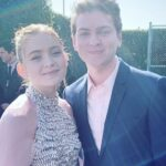 Sadie Sink with her brother Mitchell Sink
