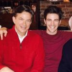 grant Gustin with father Tom Gustin