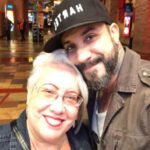 AJ McLean with mother Denise McLean