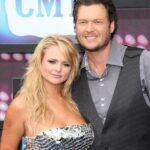 Blake Shelton with ex-wife Miranda Lambert image