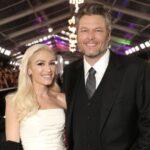 Blake Shelton with partner Gwen Stefani image