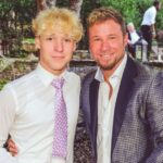 Brian Littrell with son Bayley Littrell