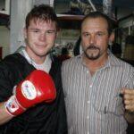 Canelo Alvarez with father Santos Álvarez