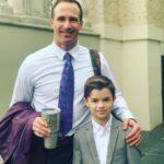 Drew Brees with son Baylen Robert Brees